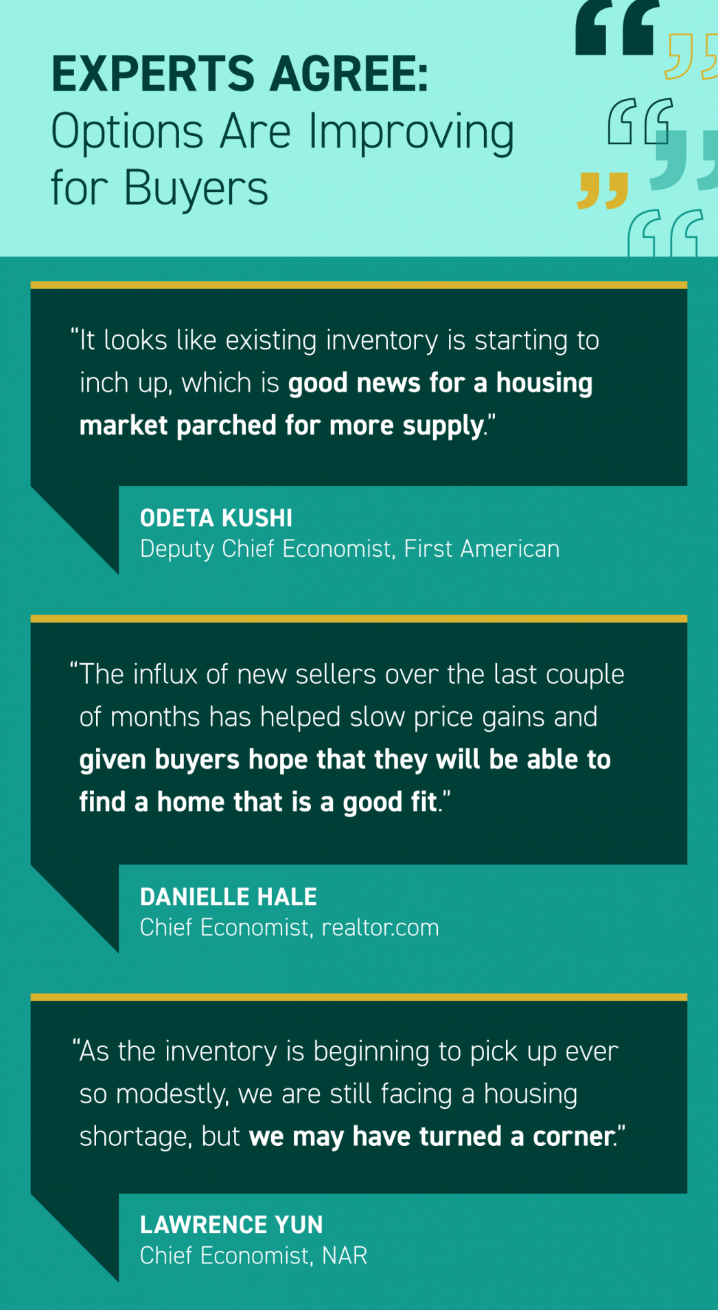 Experts Agree: Options Are Improving for Buyers [INFOGRAPHIC]   MyKCM