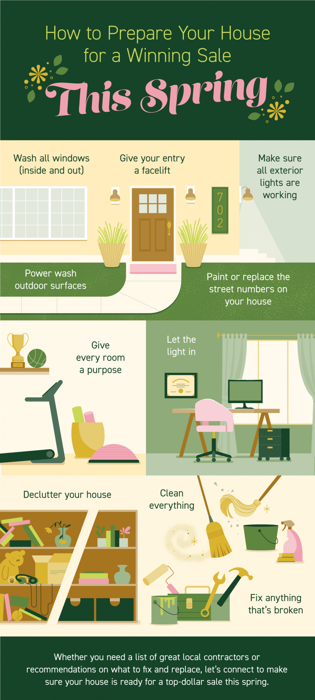 How to Prepare Your House for a Winning Sale This Spring [INFOGRAPHIC] | MyKCM